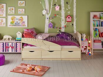 Кровать детская Дельфин 80х200 Дуб беленый-Ваниль
