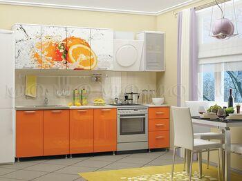 Кухня фотопечать Апельсин 2,0 м