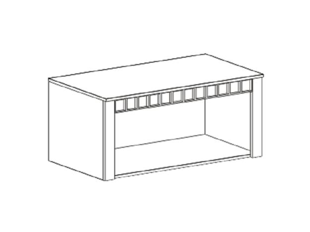 Антресоль двухдверная Прованс ШхВхГ 1070х480х590 мм