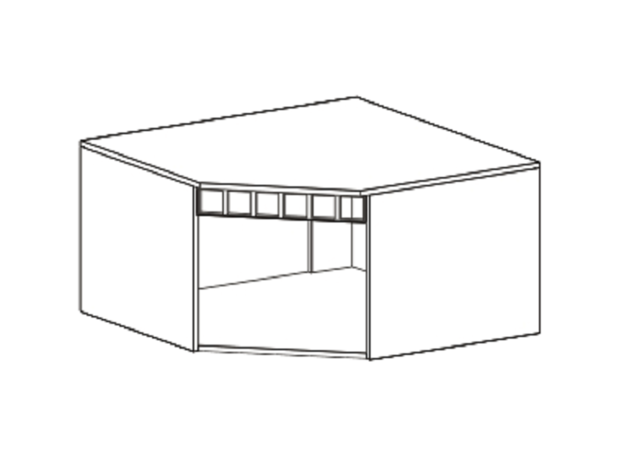 Антресоль угловая Прованс ШхВхГ 910х480х910 мм