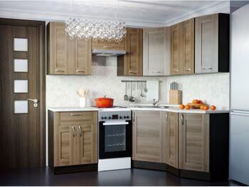Гарнитур кухонный Кира Мега Оптима угловой 1500х2000