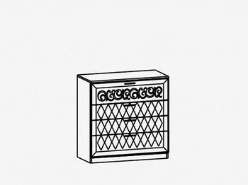 Комод с 4 ящиками М7 Париж Ясень шимо светлый-силк-тирамису