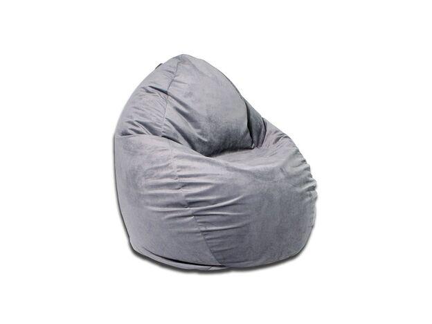 Кресло-мешок Макси велюр серый