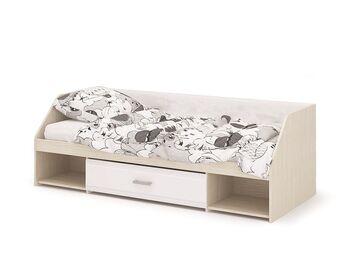 Кровать одноярусная Симба дуб белфорд-белый глянец