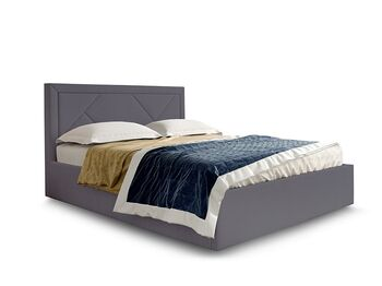 Кровать Сиеста вариант 3 Серый велюр