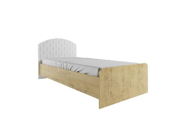 Кровать Сканди КРД900.1 дуб бунратти-белый глянец