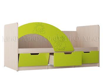 Кровать Юниор-3 МДФ Мульт ШхВхГ 1635х800х850 мм Спальное место 800х1600 мм