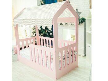 Кроватка Домик розовая