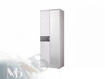 Шкаф 2-х створчатый Кимберли ШК-27 ясень белый-белый глянец