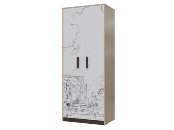 Шкаф для одежды Арабика 6-9433 ШхВхГ 800х1995х520 мм