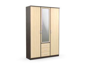 Шкаф комбинированный с зеркалом Дуэт Люкс Венге-Дуб Млечный
