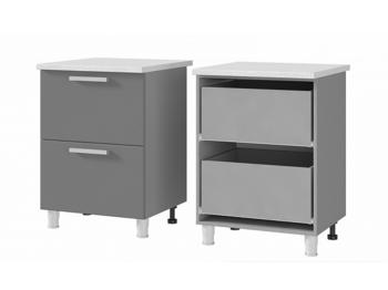Шкаф-стол с 2 ящиками 6Р2 МДФ ШхВхГ 600х820х600 мм