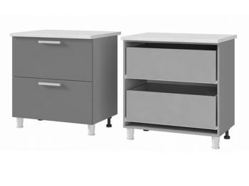 Шкаф-стол с 2 ящиками 8Р2 МДФ ШхВхГ 800х820х600 мм