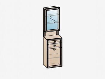 Шкаф-тумба с зеркалом ШК-1905 Эйми МДФ Бодега белая-патина Серебро