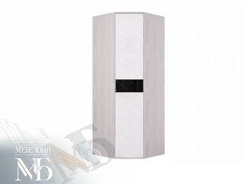 Шкаф угловой Кимберли ШК-28 ясень белый-белый глянец