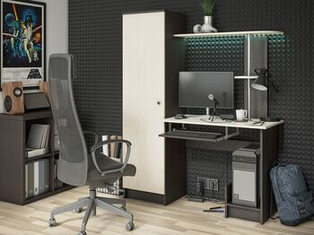 Стол компьютерный КС-001 венге-дуб беленый