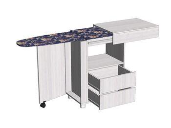 Стол с гладильной доской большой Анкор светлый