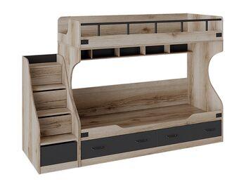 Кровать 2-х ярусная с лестницей приставной Окланд СМ-324.11.001
