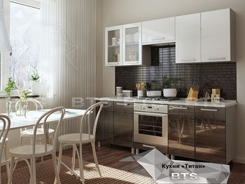 Кухня модульная Титан МДФ Глянец