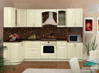 Кухня Кантри угловая 2,8*1,33