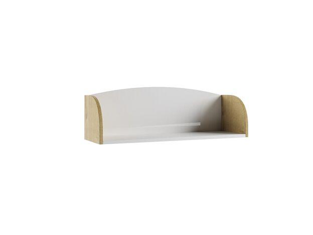 Полка Сканди ПЛД800.1 дуб бунратти-белый глянец