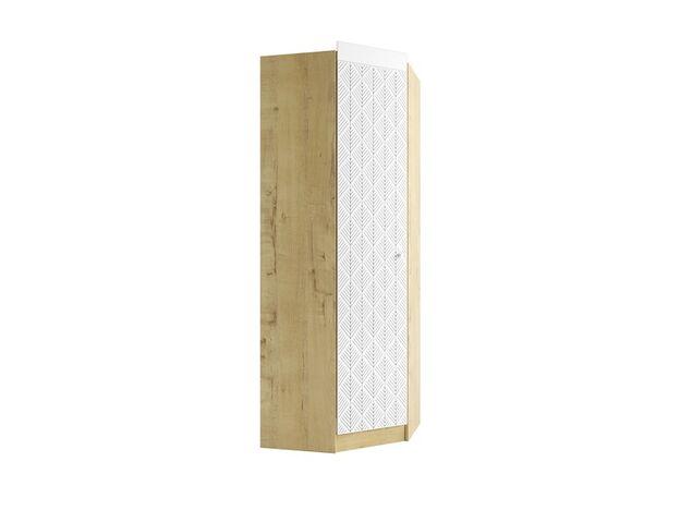 Шкаф угловой Сканди ШДУ765.1 дуб бунратти-белый глянец