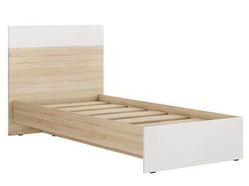 Кровать 900 Лайт Кр-44 Дуб Сонома-Белый