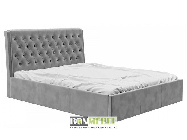 Кровать Прима 1600 с ПМ вельвет серый