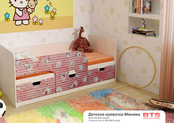 Кровать детская Минима Хеллоу Китти