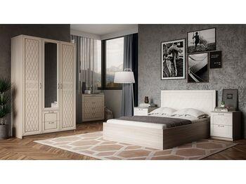 Спальня Париж Ясень шимо светлый-силк-тирамису